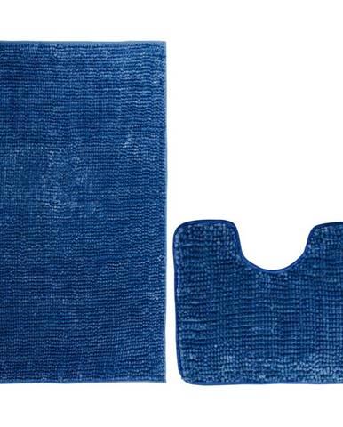 AmeliaHome Sada kúpeľňových predložiek Bati tmavomodrá, 2 ks 50 x 80 cm, 40 x 50 cm
