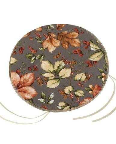 Bellatex Sedák Ema okrúhly hladký Lístie, 40 cm
