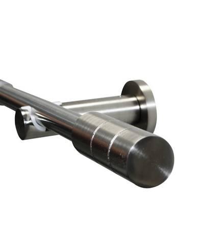 Gardinia Súprava záclonová roztiahnuteľná KRETA 19/16 mm, 120 -210 cm ušľachtilá oceľ