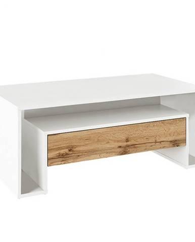 Konferenčný stolík biela/dub wotan DAWSON