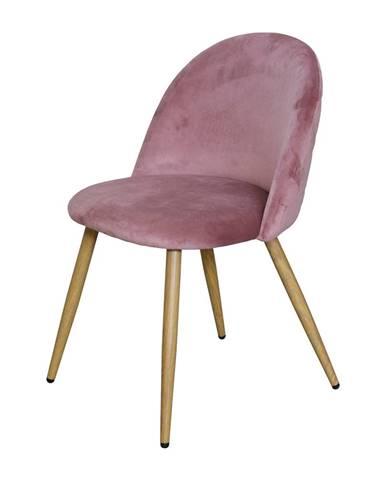 Jedálenská stolička LAMBDA ružový zamat
