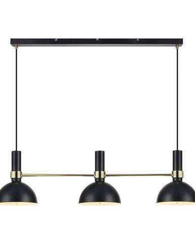 Čierne trojité stropné svietidlo Markslöjd Larry Black Gold
