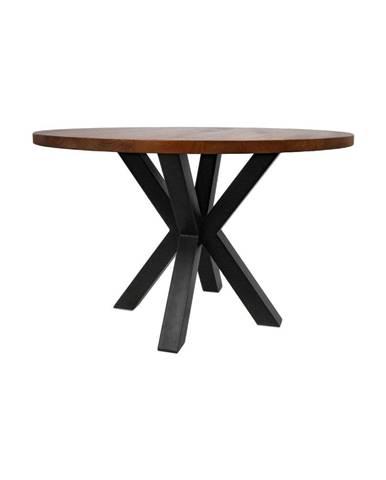 Guľatý jedálenský stôl s doskou z mangového dreva HMS collection, ⌀ 120 cm