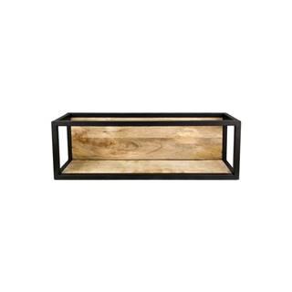 Nástenná polica s detailom z mangového dreva HSM collection Caria, 75×25 cm