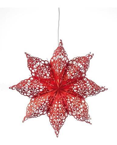 Červená závesná dekorácia v tvare hviezdy Markslöjd Hall