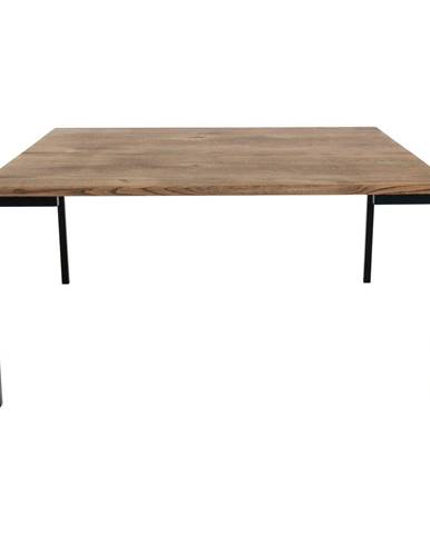Čierny konferenčný stolík s tmavou doskou z dubového dreva HoNordic Lugano, 90 x 90 cm