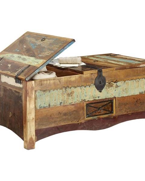 Landscape Landscape TRUHLICA, staré drevo, viacfarebná, 110/45/60 cm - viacfarebná