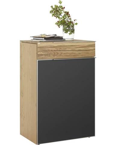 Voglauer SKRINKA NA TOPÁNKY, sivá, farby dubu, staré drevo, dub, 64/98/42,5 cm - sivá, farby dubu