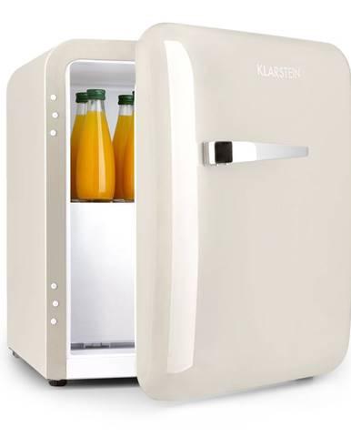 Klarstein Audrey, mini chladnička, EEC A+, mraziaci priečinok, LED, krémová