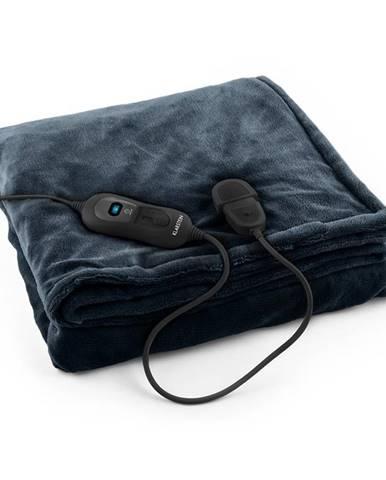 Klarstein Dr. Watson XL, vyhrievacia deka, 120 W, 180 x 130 cm, prateľná, mikroplyš, modrá/šedá