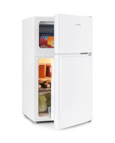 Klarstein Big Daddy Cool, chladnička s mrazničkou, 61/26 litrov, 42 dB, A+, biela