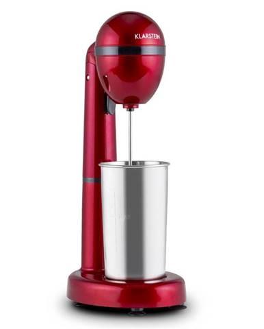 Klarstein van Damme, 100W, miešač/mixér na miešanie drinkov, 450ml, nerezový pohár, červený