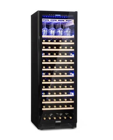 Klarstein Vinovilla Onyx Grande, veľkoobjemová vinotéka, 433 l, 165 fliaš, čierna