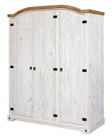 Skriňa 3-dverová CORONA biely vosk