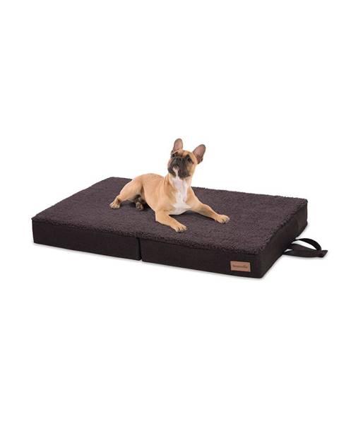 Brunolie Brunolie Paco, pelech pre psa, vankúš pre psa, možnosť prania, ortopedický, protišmykový, priedušný, skladacia pamäťová pena, veľkosť M (80 × 8 × 55 cm)