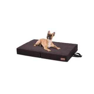 Brunolie Paco, pelech pre psa, vankúš pre psa, možnosť prania, ortopedický, protišmykový, priedušný, skladacia pamäťová pena, veľkosť M (80 × 8 × 55 cm)