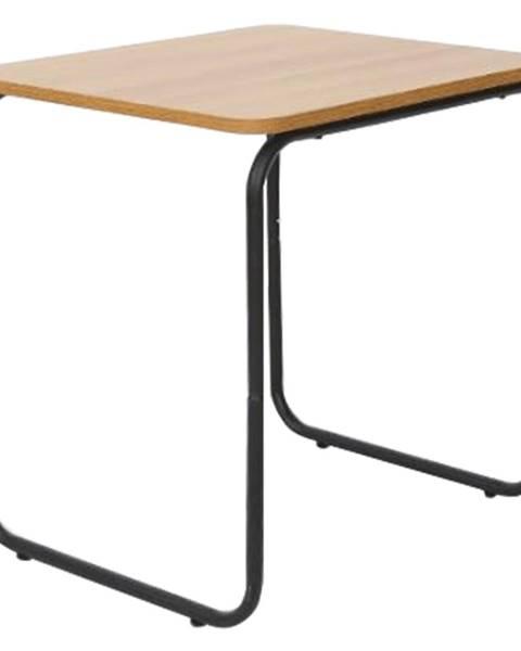 Tempo Kondela Príručný stolík dub/čierna LAVERNE TYP 3