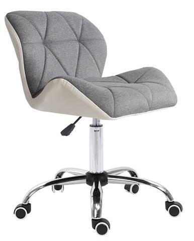 Kancelárske kreslo biela/sivá/chróm BADAR