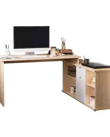 Písací stôl dub sonoma/biela DALTON 2 NEW VE 02