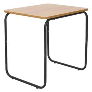 Príručný stolík dub/čierna LAVERNE TYP 3