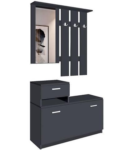 Predsieňový nábytok Vegas čierna