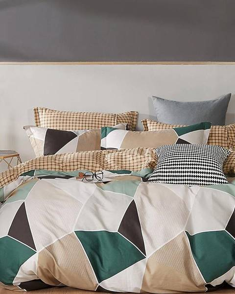 MERKURY MARKET Bavlnená saténová posteľná bielizeň ALBS-01238B 160X200