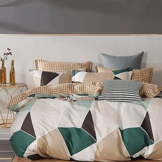 Bavlnená saténová posteľná bielizeň ALBS-01238B 160X200