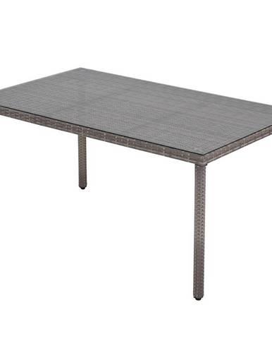 Záhradný ratanový stôl  Haiti šedá
