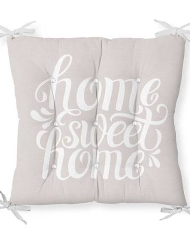 Sedák s prímesou bavlny Minimalist Cushion Covers Home Sweet Home, 40 x 40 cm