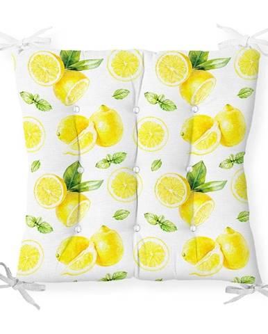 Sedák s prímesou bavlny Minimalist Cushion Covers Sliced Lemon, 40 x 40 cm