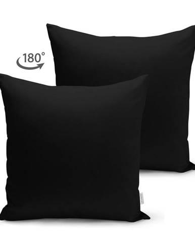 Čierna obliečka na vankúš Minimalist Cushion Covers, 45 x 45 cm