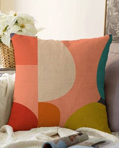 Obliečka na vankúš s prímesou bavlny Minimalist Cushion Covers Circles, 55 x 55 cm