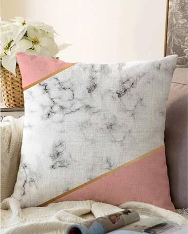 Obliečka na vankúš s prímesou bavlny Minimalist Cushion Covers Girly Marble, 55 x 55 cm