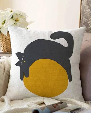 Obliečka na vankúš s prímesou bavlny Minimalist Cushion Covers Kitty, 55 x 55 cm