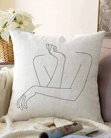 Obliečka na vankúš s prímesou bavlny Minimalist Cushion Covers Pose, 55 x 55 cm