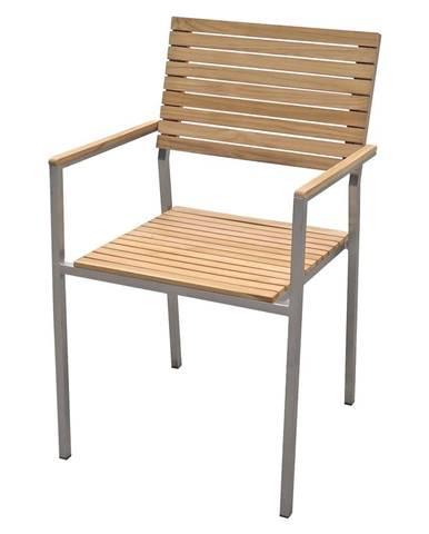 Záhradná stohovateľná stolička s oceľovou konštrukciou ADDU Denver