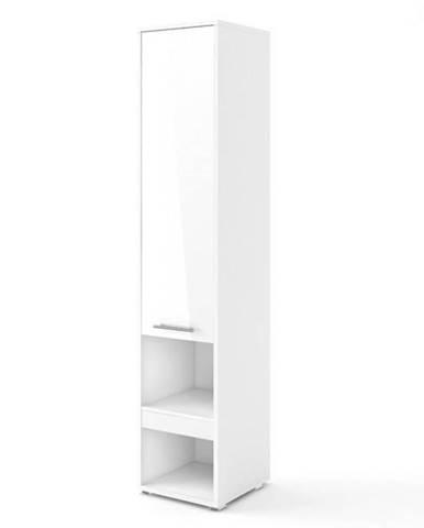 Skriňa CONCEPT PRO CP-07 1D biela vysoký lesk, 1 dvierka, 1 zásuvka
