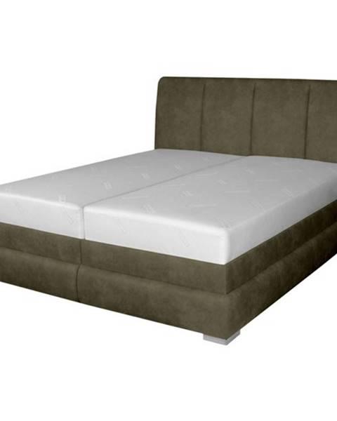 Sconto Posteľ BARI hnedá, 180x200 cm, s matracom