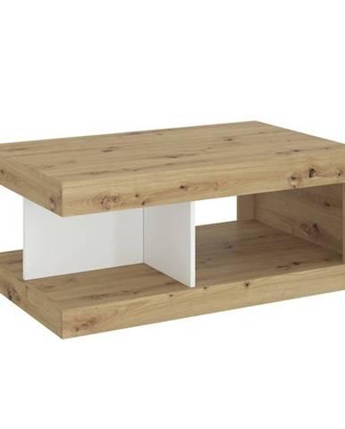 Konferenčný stolík LUCI dub artisan/biela/tmavosivá
