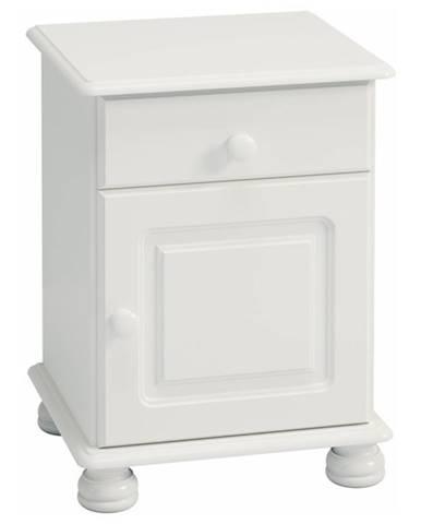 Nočný stolík ROCKWOOD biela