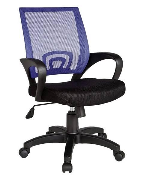 Möbelix Otočná Stolička Pre Dieťa Rivoli Čierna/modrá