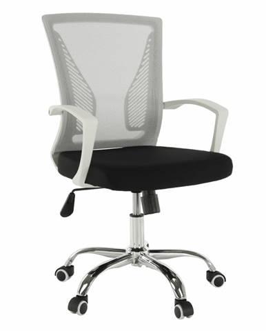 Izolda kancelárske kreslo s podrúčkami sivá