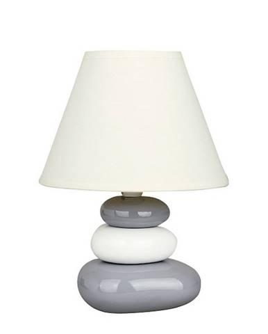 Stolná lampa Salem, bielo-šedá, Rabalux 4948