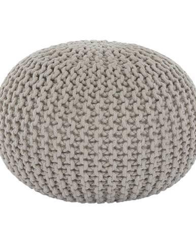 Pletený taburet krémová bavlna GOBI TYP 2