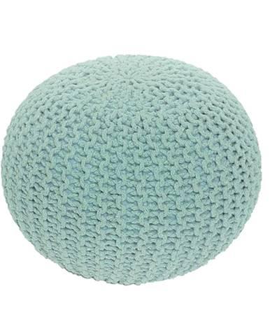 Pletený taburet mentol-peppermint bavlna GOBI TYP 2