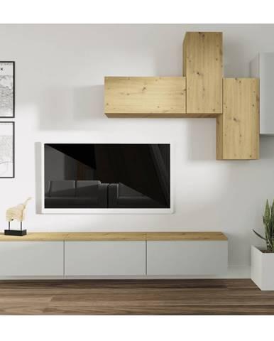 Obývacia stena svetlosivá/dub artisan OTEN
