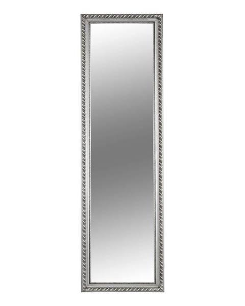 Kondela Zrkadlo drevený rám striebornej farby MALKIA TYP 5