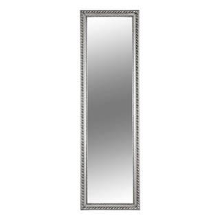 Zrkadlo drevený rám striebornej farby MALKIA TYP 5
