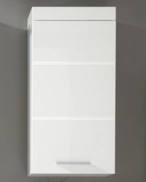 ASKO - NÁBYTOK Kúpeľňová závesná skrinka Amanda 501, lesklá biela%