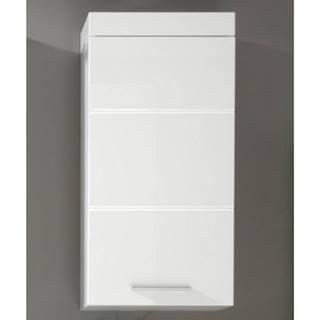 Kúpeľňová závesná skrinka Amanda 501, lesklá biela%